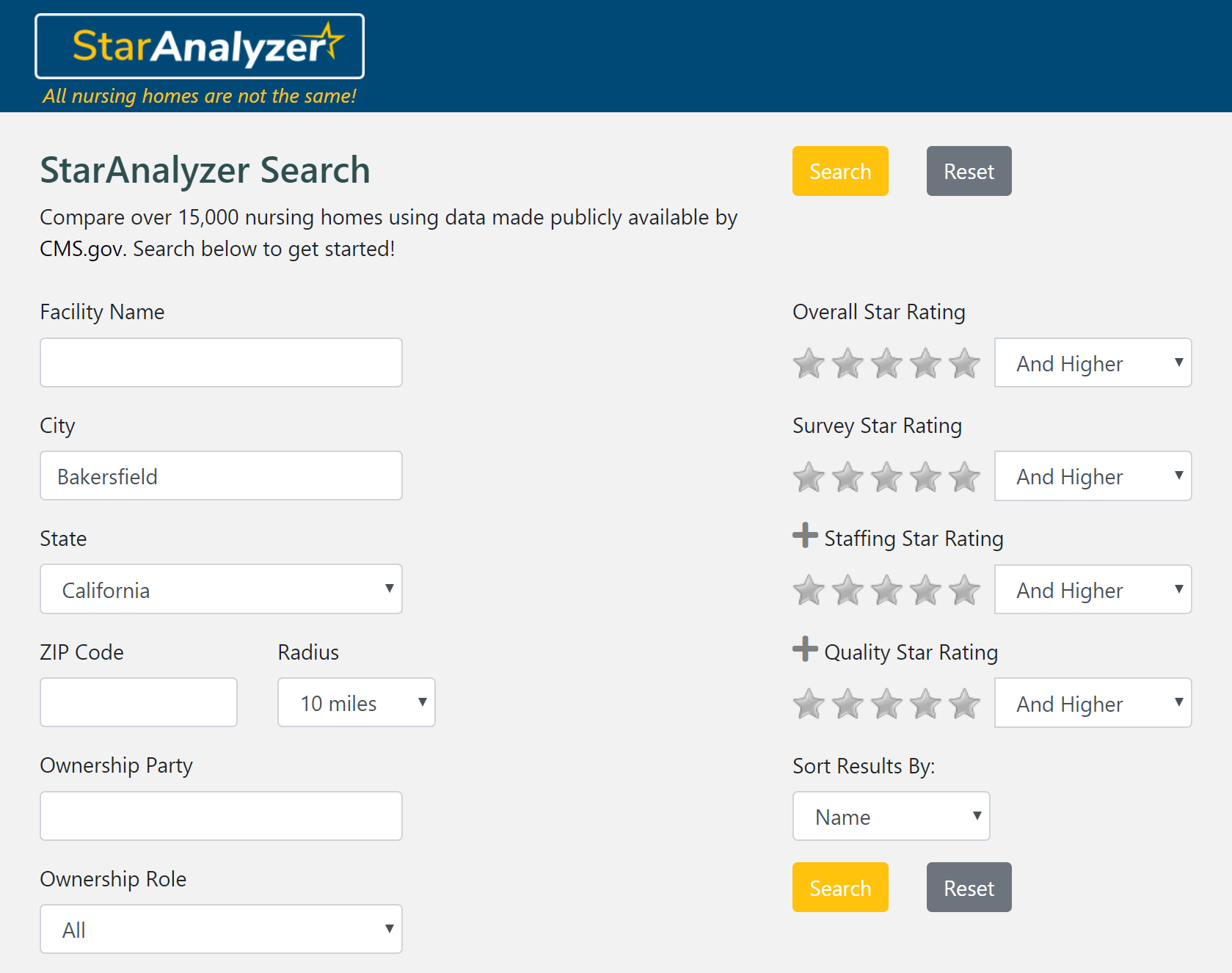 Centralized Search